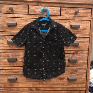 Arizona Jeans Boy's Black Button Down Top - S (8)